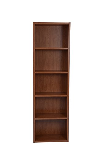 Oak Double Door Corner (Boraam 60130 Techny Collection Miro Hollow Core Bookcase, Golden Oak)