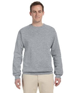 - Jerzees Men's 562M NuBlend Crew Neck Sweatshirt, Athletic Heather, Large