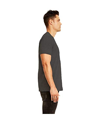 (Next Level 6410 Men's Sueded Crew Heather Charcoal)