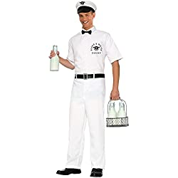 Men's 50's Milkman Costume