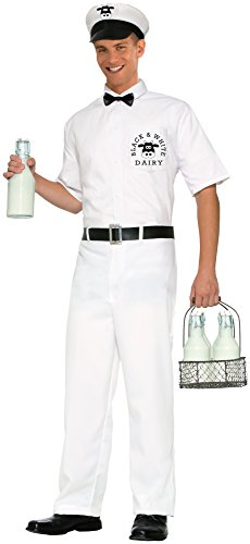 Forum Novelties Men's 50's Milkman Costume, White, Standard]()