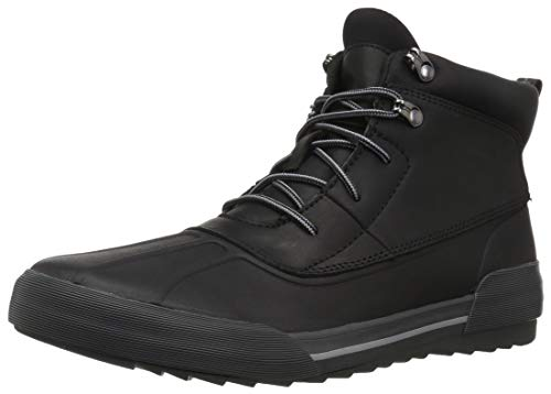 Clarks Women's Gilby McKinley Snow Boot, Black Leather, 7 M US
