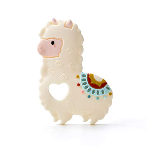 Loulou Lollipop Llama Soft Silicone Teether - Premium Baby Teether Toy Massaging Teether