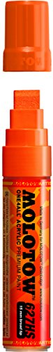 Molotow ONE4ALL Acrylic Paint Marker, 15mm, Dare Orange, 1 Each (627.203)