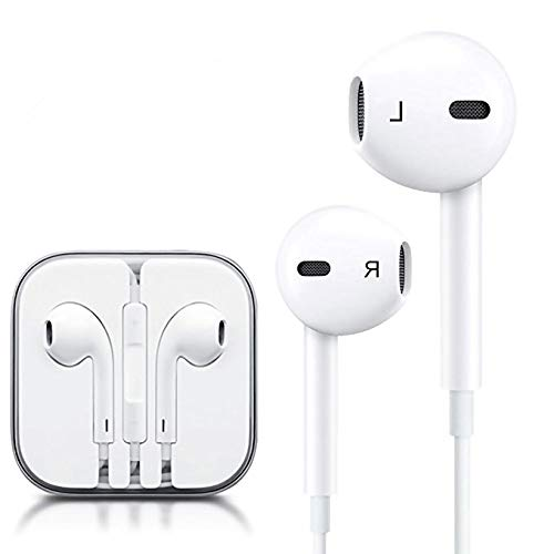Winmore Phone Headphone Earbud Headset Earphones with Stereo Microphone Mic and Remote Control Compatible with Phone 6s 6 Plus 5s 5 5c SE(2 Pack-White) by Winmore (Image #2)