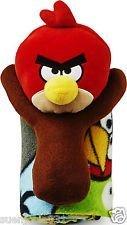 "Angry Birds Plush Throw Blanket 40""x50"" Soft Warm NEW"