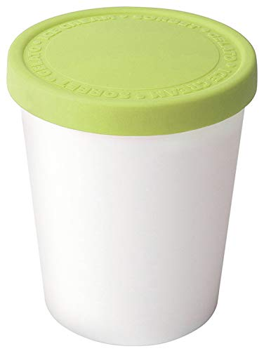 Tovolo Tight-Fitting, Stack-Friendly, Sweet Treat Tub, Pistachio