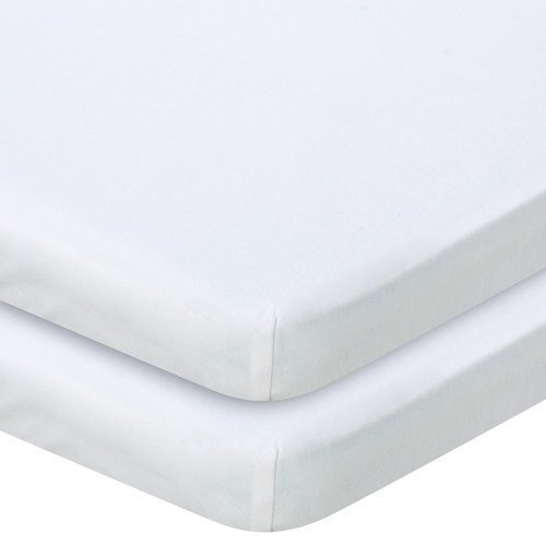 Babies R Us Knit Bassinet Sheet 2 Pack - White