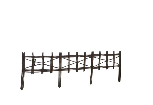 Master garden products picket style willow edging 48 by for Master garden products