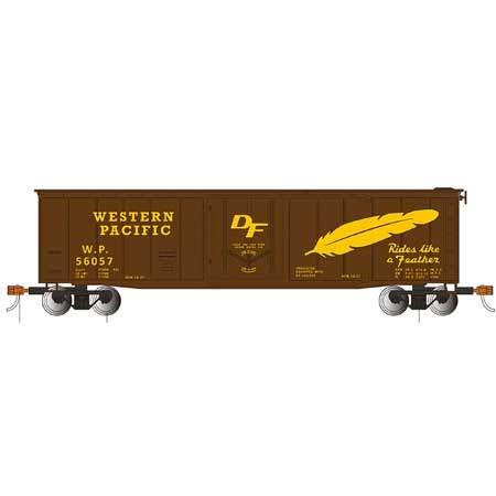 50' Plug-Door Box Car Western Pacific - HO Scale (Western Pacific Boxcar)