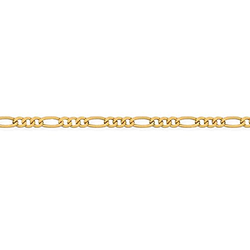 So Chic Jewels - 9k Yellow Gold - 25 cm - 1/3 Alternation Figaro Link Chain Anklet by So Chic Jewels