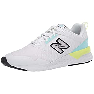 New Balance Women's Fresh Foam 515 Sport V2 Sneaker, White/Bali Blue/Lemon Slush, 12 M US