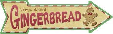 (Smart Blonde Outdoor Decor Gingerbread Novelty Metal Arrow Sign)