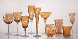 - Skyros Designs Lauren Collection Glass Compote - Amber