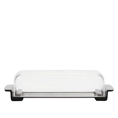 OXO Good Grips Butter Dish, Stainless Steel/Clear (Refrigerator Butter Dish compare prices)