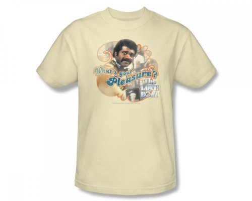 The Love Boat - Love Boat / Isaac Slim Fit Adult T-Shirt In Cream, XX-Large, Cream -