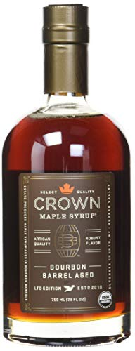 Crown Maple Syrup with Robust Flavor Bourbon Barrel Aged LTD Edition 25 FL - Cask Crown Royal