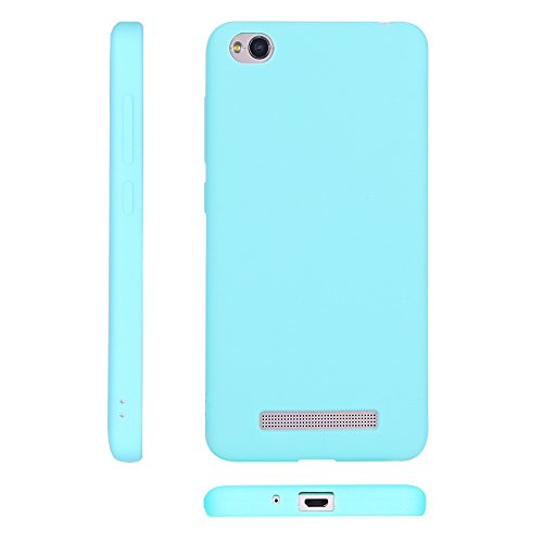 Funda Xiaomi Redmi 4A, Carcasa Redmi 4A, Suave Opaco gel Silicona TPU Cover RosyHeart Ultra Fina Flexible Goma Mate Case Tapa Anti-arañazos Protectora Caja Funda para Xiaomi Redmi 4A (5.0 Pulgadas) -  Lago verde