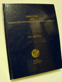 Download Directory of the American Psychological Association: 2001 (Directory of the American Psychological Association, 2001) pdf