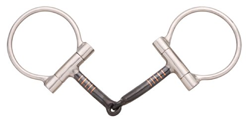 Sweet Iron Snaffle Mouth (Tough 1 Stainless Steel Offset Dee with Sweet Iron Snaffle Mouth, 5-Inch)