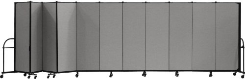 (Screenflex Heavy Duty Portable Room Divider (HFSL6011-DG) 6 Feet High by 20 Feet 5 Inches Long, Designer Stone Fabric)