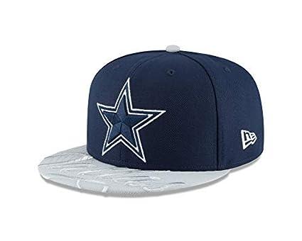 01b1537a Amazon.com : New Era Dallas Cowboys Nike Navy Visor Script 59Fifty ...