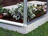 6' x 2' Halls Lean To Greenhouse Base With Galvanised Finish (Wall Garden)   Size 6' X 2'