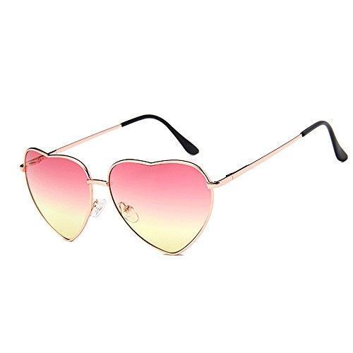 de de en de en Lentilles lunettes les coeur miroir de en Lunettes plates personnalité cadre soleil forme forme de fraîches protection soleil la loisir coeur de forme de de adapté aux la pour UV femmes Fww5Rq8g