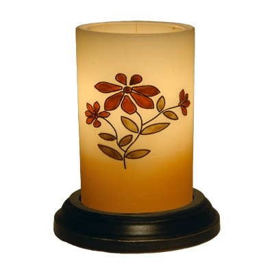CR Designs Primitive Prairie Bouquet Candle Sleeve with Black Round Candle Base