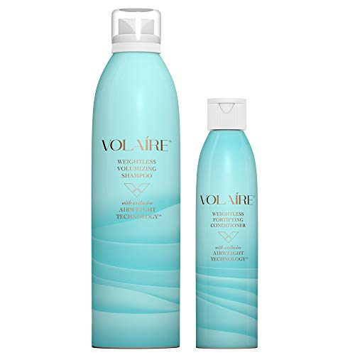 Volaire Weightless Volumizing Shampoo (10.5 Oz) & Weightless Fortifying Conditioner (8 Oz) - Sulfate Free | Paraben Free | Safe for Color Treated Hair