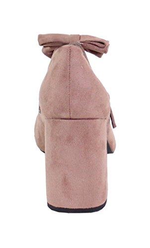 Femme Shoes Daim Effet Carré Escarpin By Rose Talon pqvwf