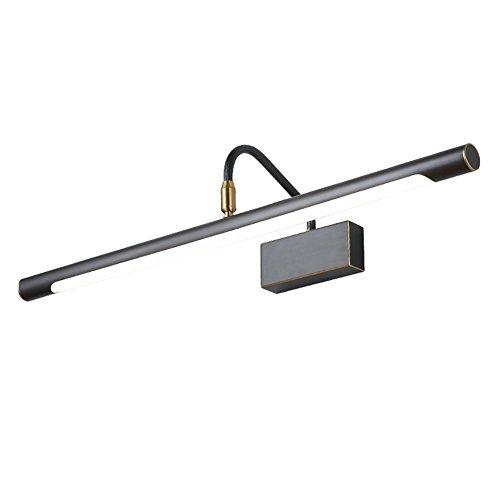 &Spiegelleuchte Kupferne geführte Spiegel-Scheinwerfer, Badezimmer-Badezimmer-Lichter Wasserdichte Anti-nebel-Lampen Retro- Spiegel-Kabinett-Lichter (Größe   43cm)