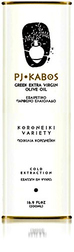 2018/19 Harvest PJ KABOS 16.9Floz Greek Extra Virgin Olive Oil | 100% Olive Oil born in Ancient Olympia vicinity | From Greece | KORONEIKI Variety |
