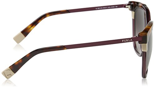 Furla Eyewear, Montures de Lunettes Femme, Multicolore (Shiny Transparent Plum Purple), 55