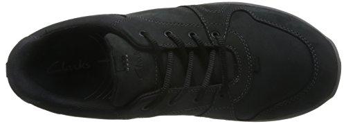 Clarks Caminar Hombre Zapatos Wave Port En Nobuk Negro Tamaño 44