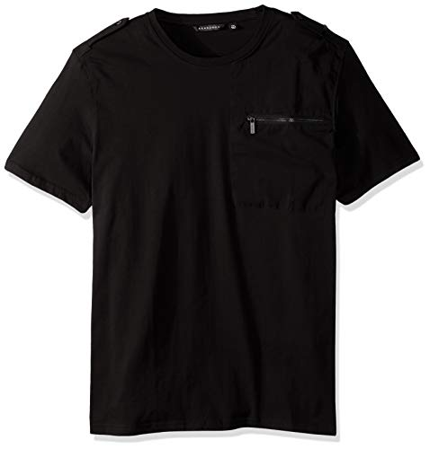 Sean John Men's Short Sleeve Flight Knit Shirt, pm Black, 4XL from Sean John