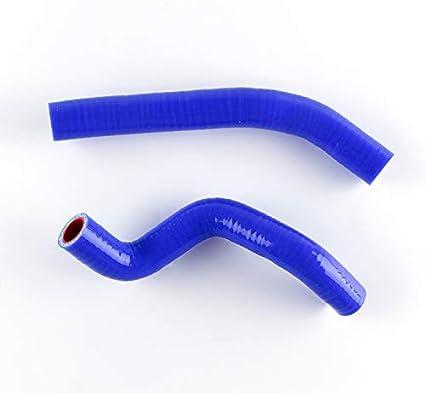 blue LUXERAD Performance 3 Layer Radiator Coolant Silicone Hose For ATV Kawasaki KFX450 KFX450R 2008-2012