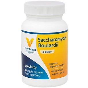 The Vitamin Shoppe Saccharomyces Boulardii 5 Billion, Supports Digestive and Intestinal Health with Prebiotic Support Blend, Once Daily (90 Veggie Capsules)