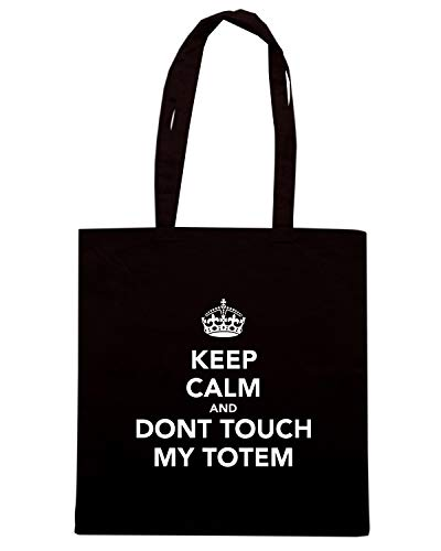 Speed Shirt Borsa Shopper Nera TKC2481 KEEP CALM AND DONT TOUCH MY TOTEM