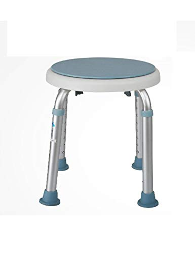 - ZYear Transfer Shower Chair Aluminum Alloy Tool-Free Assembly Non-Slip Bath Seat for Elderly Pregnant Women Blue
