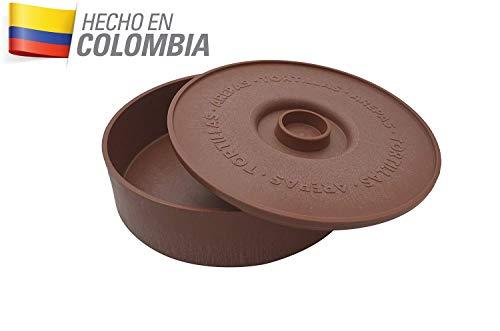 IMUSA USA MEXI-1000-TORTW Tortilla Warmer Terracota 8.5-Inch, Light Brown Brick Color (Best Way To Warm Corn Tortillas)