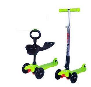 Amio Scooter para niños puede levantar el patín de cuatro ruedas, juguete deportivo, arroz