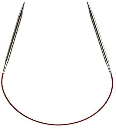 "stainless steel knitting needle circular US size 6 31/"""
