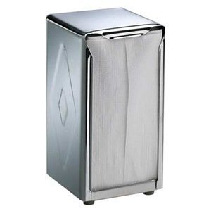 Napkin Dispenser, Chrome, Capacity 150