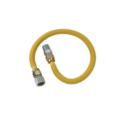 Oven Gas Aga - BrassCraft CSSC54-24 ProCoated Stainless Steel Gas Connector, 1/2-Inch F.I.P. by 1/2-Inch M.I.P.