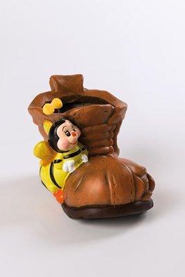 f283ad960fa444 Amazon.com  Flower pot ceramic(s) shoe with bee 23x13x14cm Topfd.  8 ...