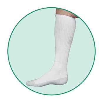 d180ec1f848 Juzo 5760AD10 L 5760 OTC Silver Sole Unisex Knee High Socks 12-16mmHg - -