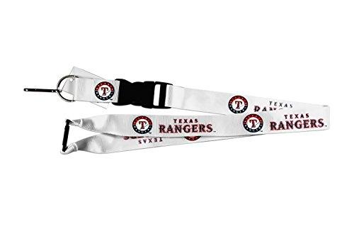 Texas Rangers Clip - Texas Rangers Clip Lanyard Keychain Id Holder Ticket - White