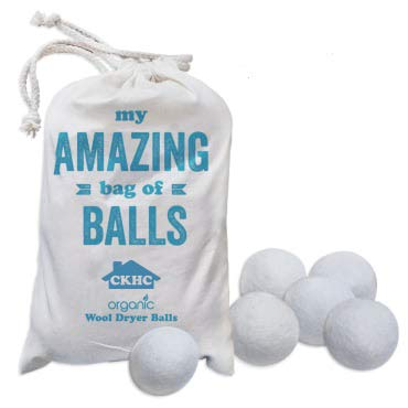 Wool Dryer Balls, 6 XL, 100% Organic, Reusable Dryer Sheet Fabric Softener Alternative. Chemical Free, Baby Safe, Reduces Wrinkles, Static, Softens and Fluffs Clothing -