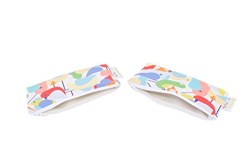 Itzy Ritzy Reusable Mini Snack Bags - 2-Pack of 3.5